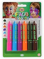 Краски для лица Koh-I-Noor mix colors 6 цветов