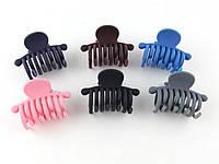 Краб для волос матовый (12 штук в упаковке)