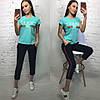 Летний костюм Gucci, футболка и брюки с полосой 7/8 размеры от 42 до 50