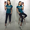 Летний костюм Gucci, футболка и брюки с полосой 7/8 размеры от 42 до 50, фото 2