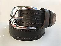 Женский кожаный ремень  Cinturify под джинсы и брюки, длина 105-125 см. Коричневый. Женский