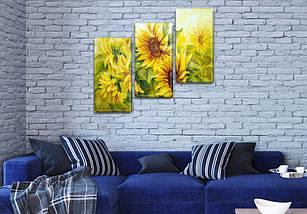 Модульные триптих картины, на ПВХ ткани, 70x80 см, (50x25-2/50х25), фото 3