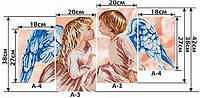 Схема для вышивки бисером - модульная картина АнгелочкиТМ 034