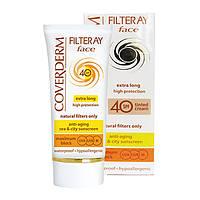 Coverderm Filteray Face Tinted Солнцезащитный крем с тональным эффектом Мягкий Коричневый SPF 40