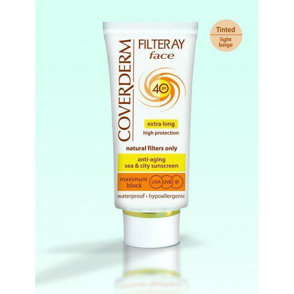 Coverderm Filteray Face Tinted Солнцезащитный крем с тональным эффектом Светло-бежевый SPF 40
