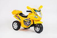 Электромотоцикл детский, Эл-мобиль T-7217 YELLOW, Мотоцикл на батарее 6V4,5AH мотор 18W, Электромобиль