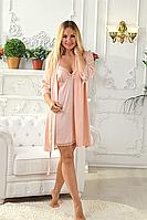 Романтичный комплект женский пеньюар и халат, высокое качество Кп029н