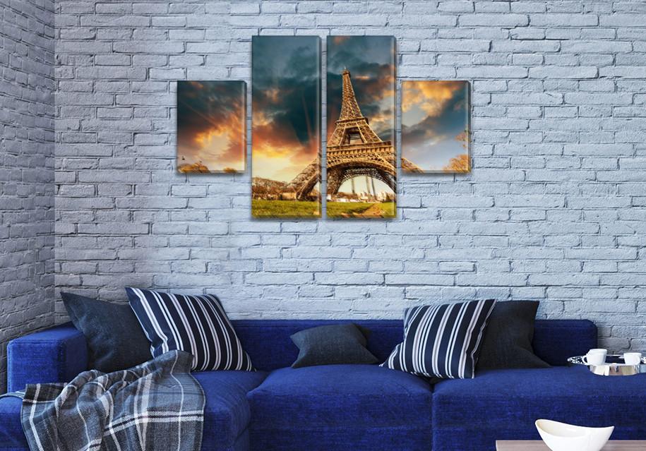 Модульные триптих картины, на ПВХ ткани, 50x80 см, (25x18-2/50х18-2)