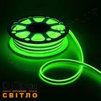 Гибкий светодиодный неон smd 3528-120 зеленый IP65 220V NEON