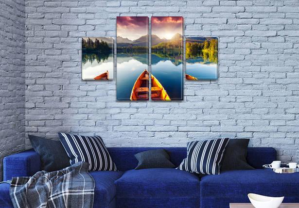 Модульные триптих картины, на ПВХ ткани, 50x80 см, (25x18-2/50х18-2), фото 2