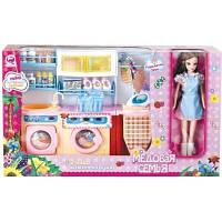 """Детский игровой набор - Прачечная """"Медовая семья"""" с куклой 29 см"""