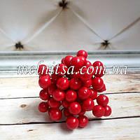 Ягоды для декора, калина , 9 мм, цвет красный