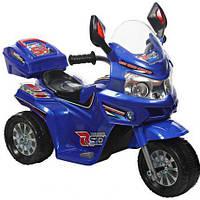 Электромобиль T-729 BLUE, Мотоцикл аккумуляторный 6V4AH с MP3, Электромотоцикл детский