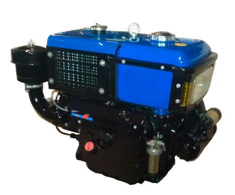Дизельный двигатель SH195NDL,12 л.с.  водяное охлаждение . + электростартер