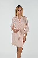 Женский персиковый халат Х014н