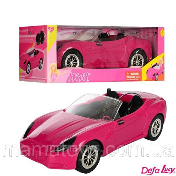 Машинка DEFA 8249 для куклы, 39см, ремень безопасности 2 шт,