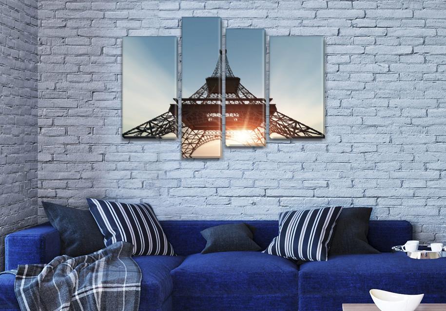 Модульные триптих картины, на ПВХ ткани, 65x85 см, (40x20-2/65х18/50x18)