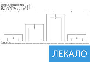 Модульные триптих картины, на ПВХ ткани, 65x80 см, (25x18-2/55х18-2), фото 2