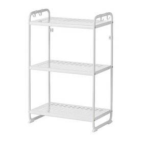 IKEA, MULIG, Стеллаж, белый, 58x34x90 см (10241042)(102.410.42) МУЛИГ ИКЕА