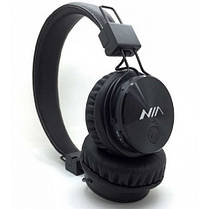 Наушники NIA X3 Bluetooth + Mp3 плеер и Fm Черные, фото 2