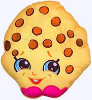 Плюшевая подушка, декор для детской комнаты Шопкинс - Печенька Куки