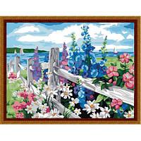"Картина по номерам ""Цветущая изгородь"" 40х50 см."