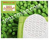 """Набор ковриков из микрофибры """"Макароны или дреды"""" в ванную и туалет, 80х50 см. и 40х50 см., зелёно-травяной, фото 5"""