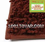 """Набор ковриков из микрофибры """"Макароны или дреды"""" в ванную и туалет, 80х50 см. и 40х50 см., зелёно-травяной, фото 7"""