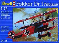 Самолет (1917 г, Германия) Fokker DR 1 Triplane, 1:72