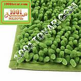 """Набор ковриков из микрофибры """"Макароны или дреды"""" в ванную и туалет, 80х50 см. и 40х50 см., зелёно-травяной, фото 2"""