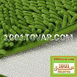 """Набор ковриков из микрофибры """"Макароны или дреды"""" в ванную и туалет, 80х50 см. и 40х50 см., зелёно-травяной, фото 3"""