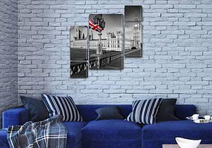 Модульные картины Британия на ПВХ ткани, 85x85 см, (40x20-2/18х20-2/65x40), фото 3