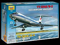 Пассажирский авиалайнер Ту-134А/Б-3, 1:144