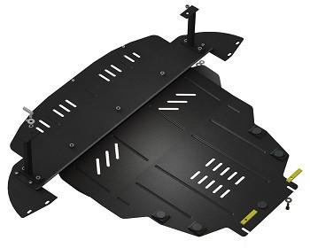 Защита двигателя, КПП и радиатора Nissan Leaf 2010- Кольчуга