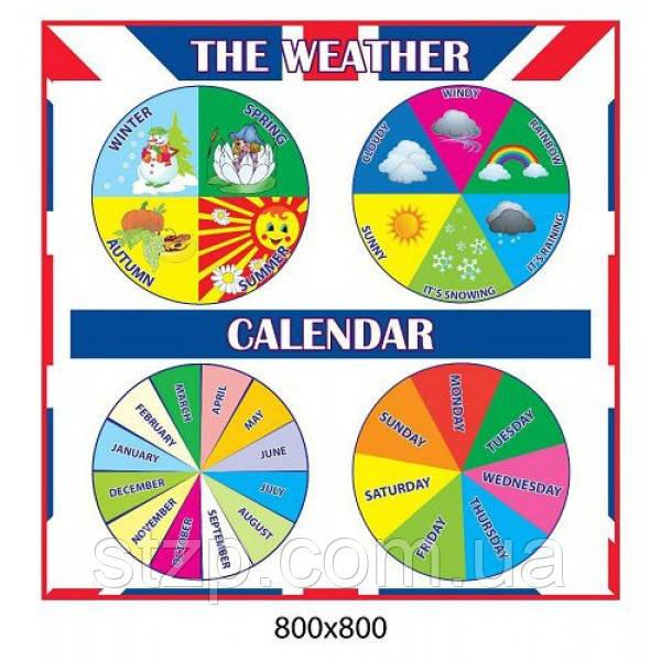 Стенд в кабинет английского языка Погода и календарь