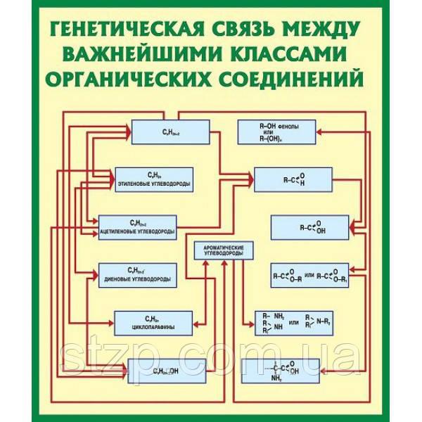 Стенд в кабинет химии (зеленый контур)