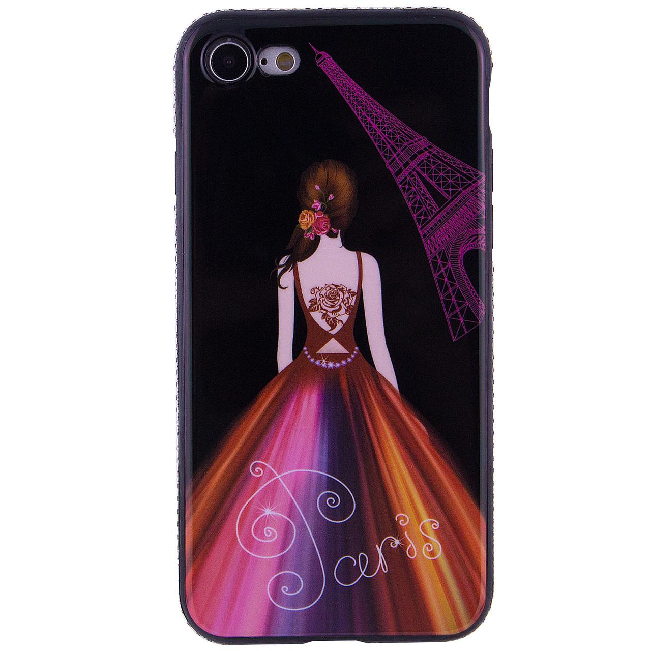 TPU чехол Magic Girl со стразами для Apple iPhone 7 / 8 (4.7