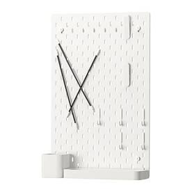 IKEA, SKADIS, Перфорированная доска, белый (39216589)(S392.165.89) СКАДИС ИКЕА