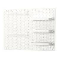 IKEA, SKADIS, Перфорированная доска, белый, 76x56 см (39217070)(S392.170.70) СКАДИС ИКЕА