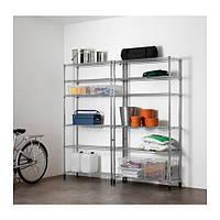 IKEA, OMAR, 2 секции полки (49187548)(S491.875.48) ОМАР, ИКЕА, ІКЕА, АЙКИА