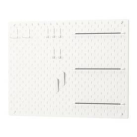 IKEA, SKADIS, Перфорированная доска, белый (49216697)(S492.166.97) СКАДИС ИКЕА