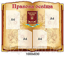 Стенд Правова освіта Конституція А4