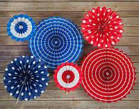 Бумажные веера для декорирования, 20 см