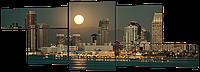 Модульная картина Городской рассвет