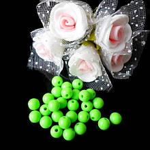 Бусины акриловые, глянцевые, 6 мм (50 шт), цвет св.зеленый
