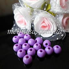 Бусины акриловые, глянцевые, 6 мм (50 шт), цвет св.фиолетовый