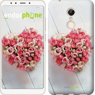 """Чехол на Xiaomi Redmi 5 Сердце из роз """"713c-1350-571"""""""