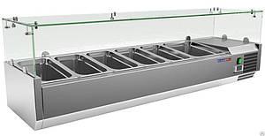 Витрина холодильная настольная COOLEQ VRX 1500/380