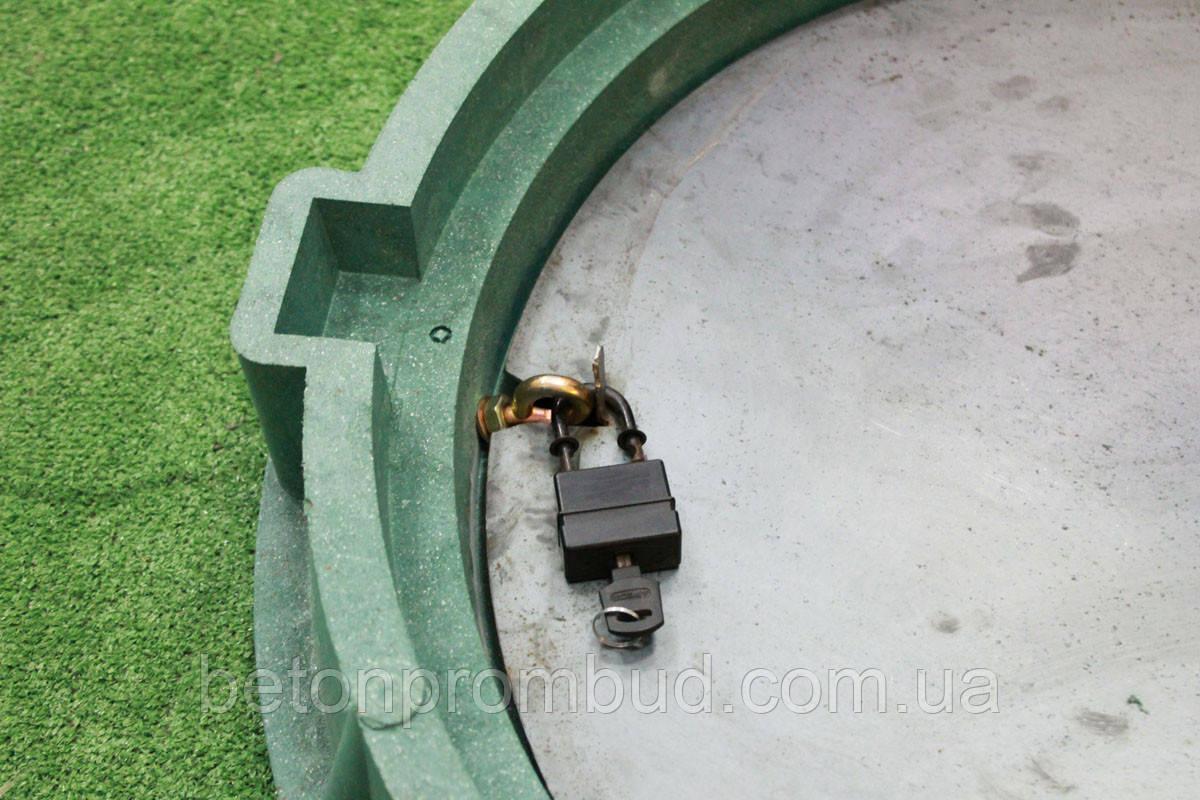 Замыкающее устройство к люкам полимерпесчаным