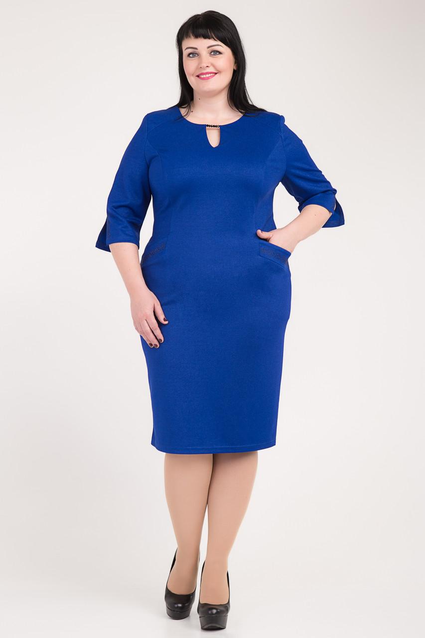 """Качественное платье больших размеров""""Эльвира"""".Разные цвета."""